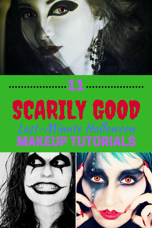 scarily good lastminute halloween makeup tutorials halloween