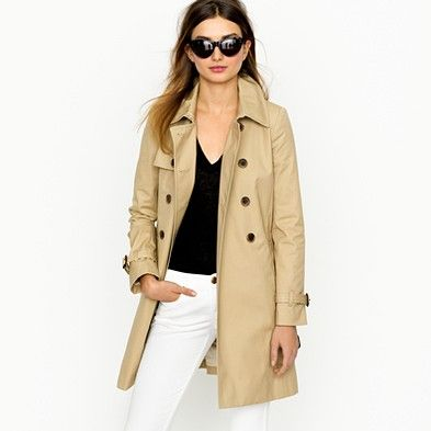 classic trench coat from J Crew