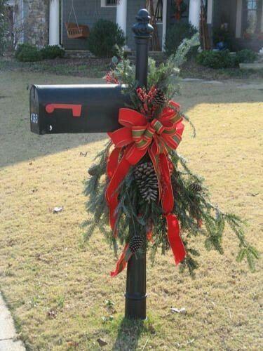 30 Christmas Mailbox Decoration Ideas - Nikki's Plate