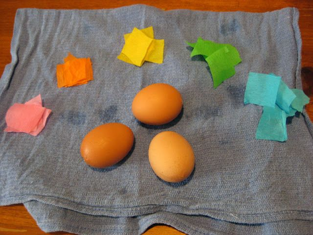 Crepe paper Easter eggs