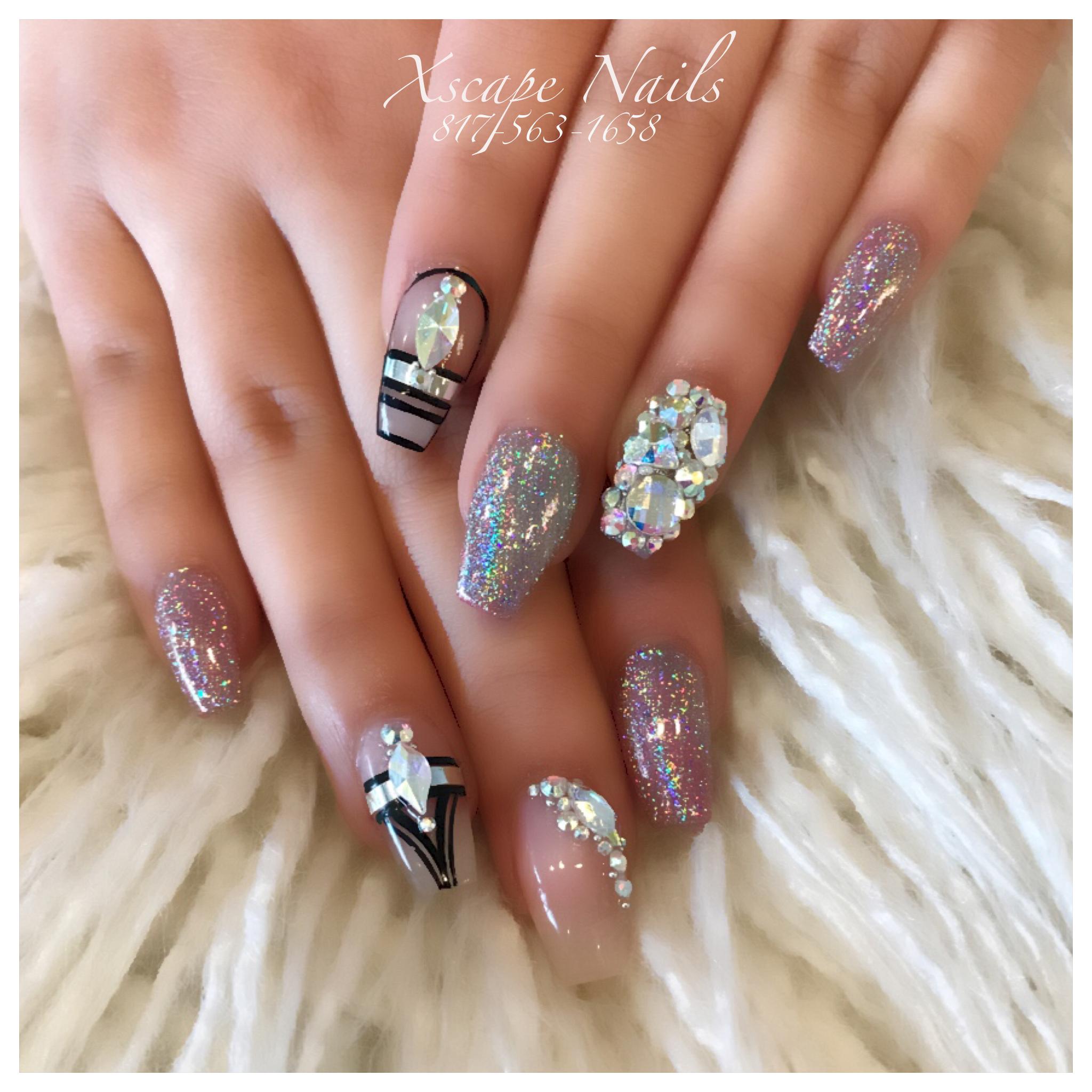 Tribal chrome nails | Cute Nails Designs | Pinterest
