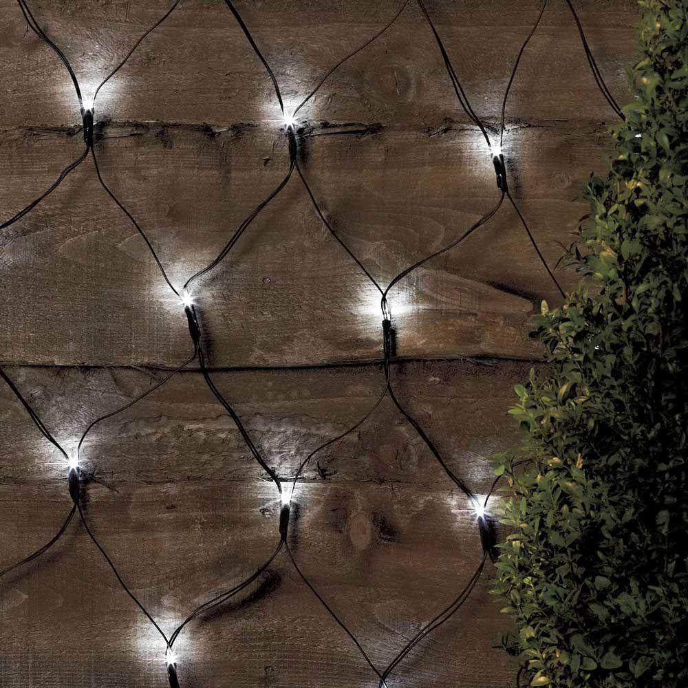 Luci A Led A Batteria.Rete Luci Di Natale Esterno Decorativa 50 Led Energia Solare