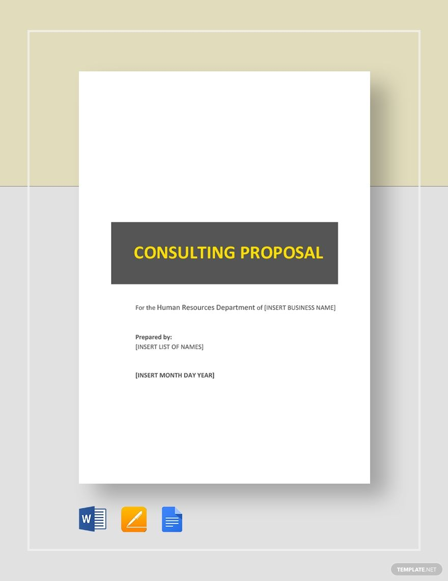 Hr Consulting Proposal Template Free Pdf Google Docs Word Apple Pages Template Net Proposal Templates Business Proposal Template Business Template Human resources consulting proposal template