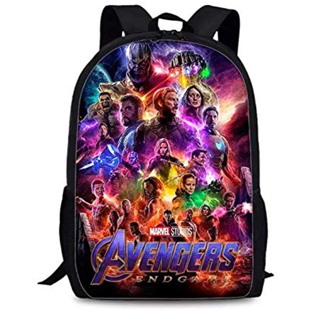 Avengers Endgame Kid/'s Backpack Boys Girls Iron Man School Bag Travel Rucksack