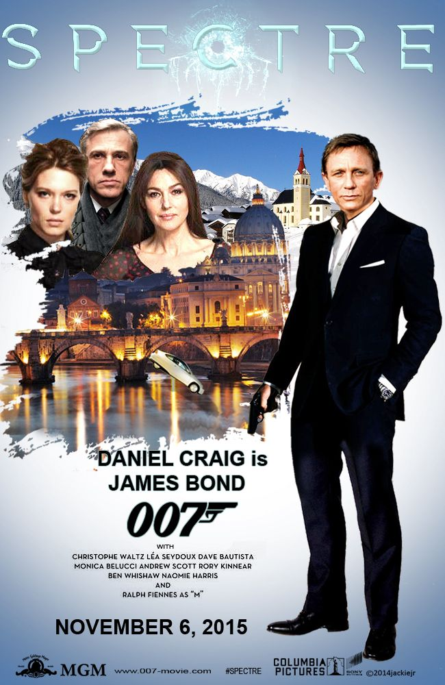 Teaser Poster For Spectre The New James Bond Movie Collage By