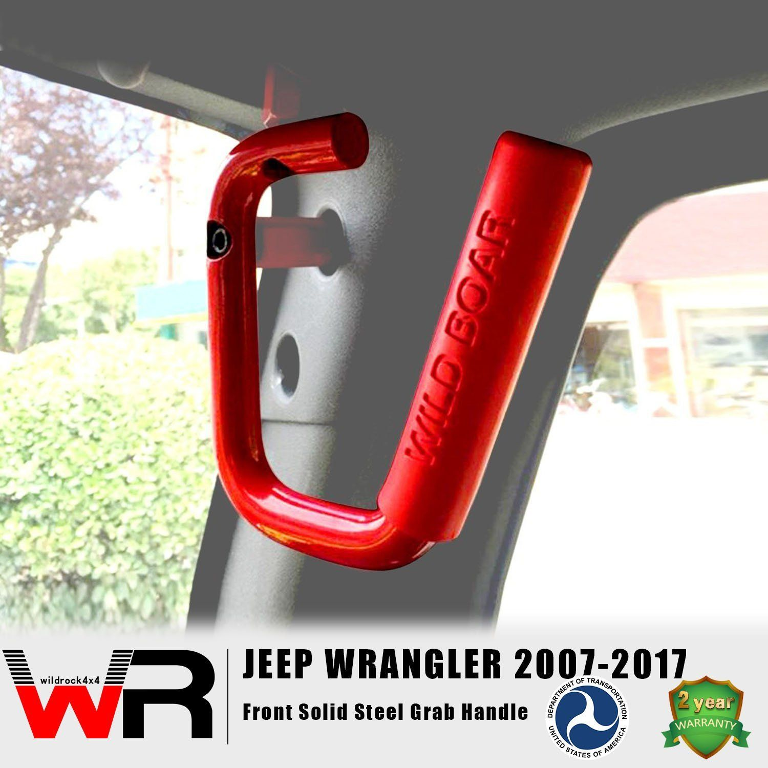 Front Red Grab Handles for Jeep Wrangler JK 0717 Jeep