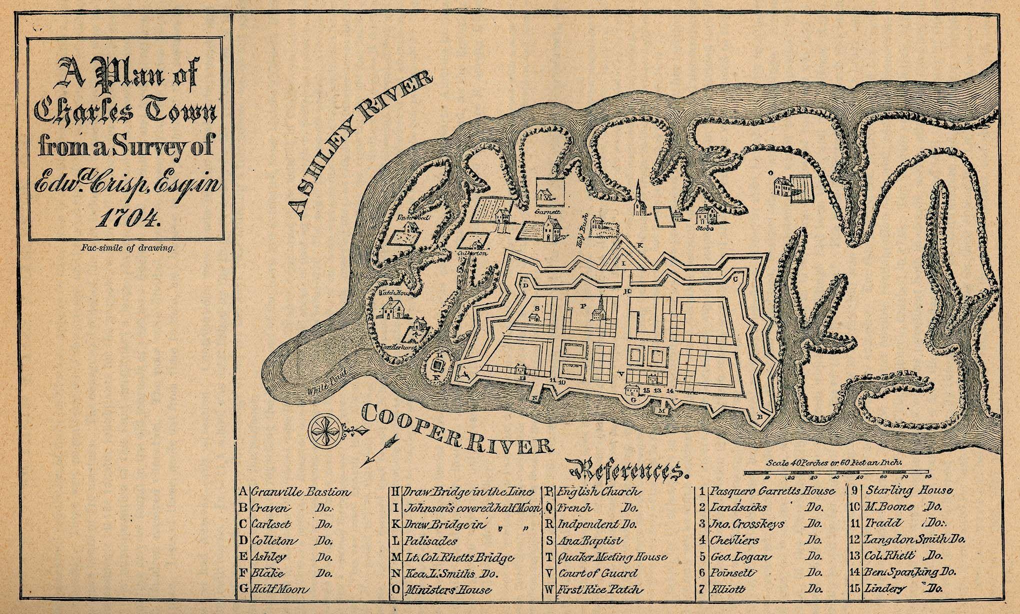 A Plan Of Charles Town Edward Crisp