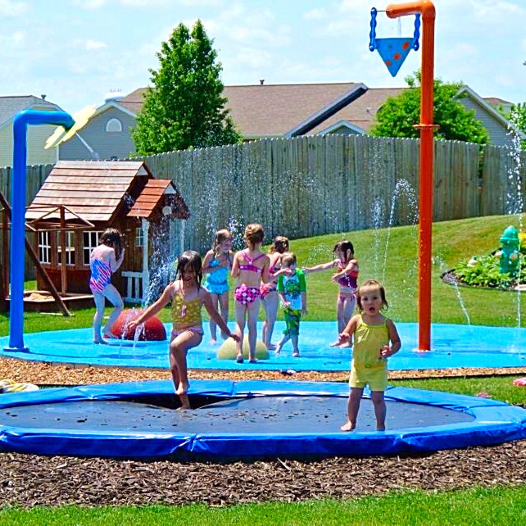 residential splash pads Yard Splash Park Pinterest