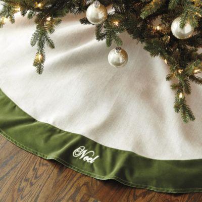 Suzanne Kasler Linen And Velvet Tree Skirt Ballard Designs