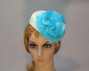 Ladies fashion pillbox hat for races Max Alexander MA536