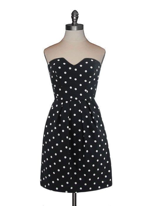 emily and fin - lucille dress in black/white | + covet + | pinterest