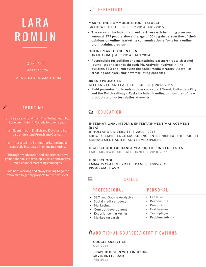 Resume Of An Online Marketing Coordinator  Resume Help