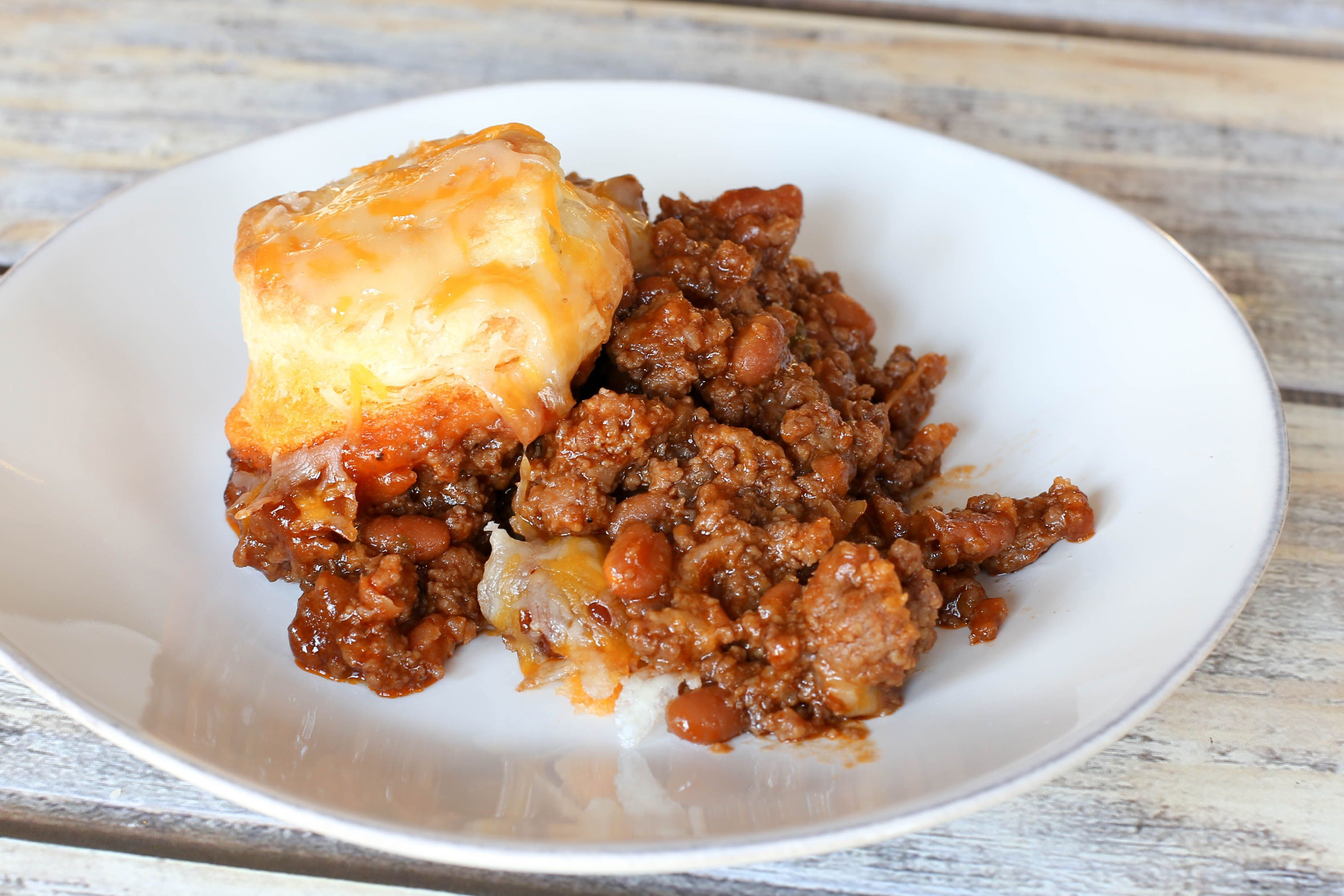 Classic Hungry Jack Casserole With Ground Beef Beans And Biscuits Baked Beans With Hamburger Ground Beef Casserole Baked Bean Casserole
