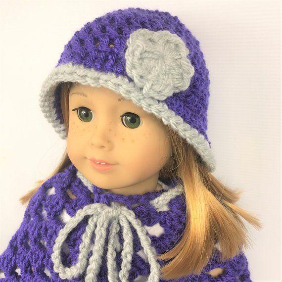 Free Crochet 18 Doll Beanie Pattern #dollhats