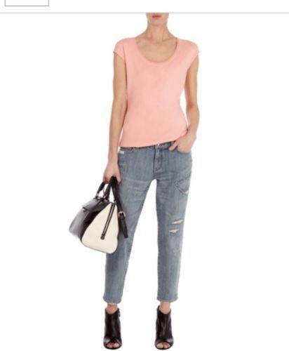 Karen Millen Peach T-Shirt Size 6 Brand New