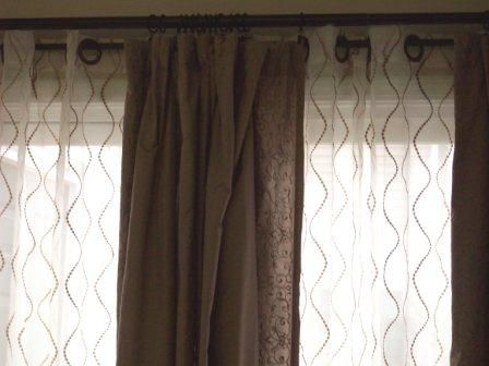Curtain And Sheers On Same Rod Home Decor