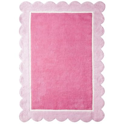 Pink Scalloped Edge Rug Target