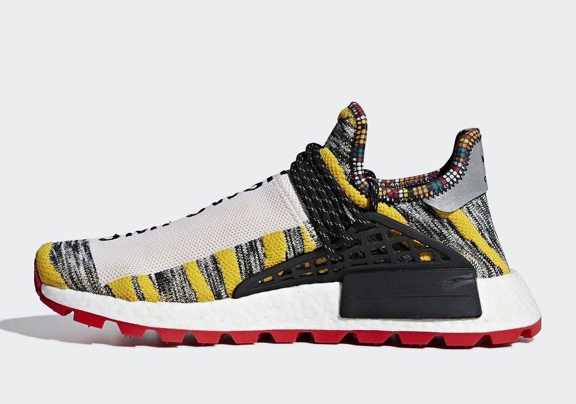 7bbf30738547c Pharrell adidas NMD Hu Solar Pack Release Date
