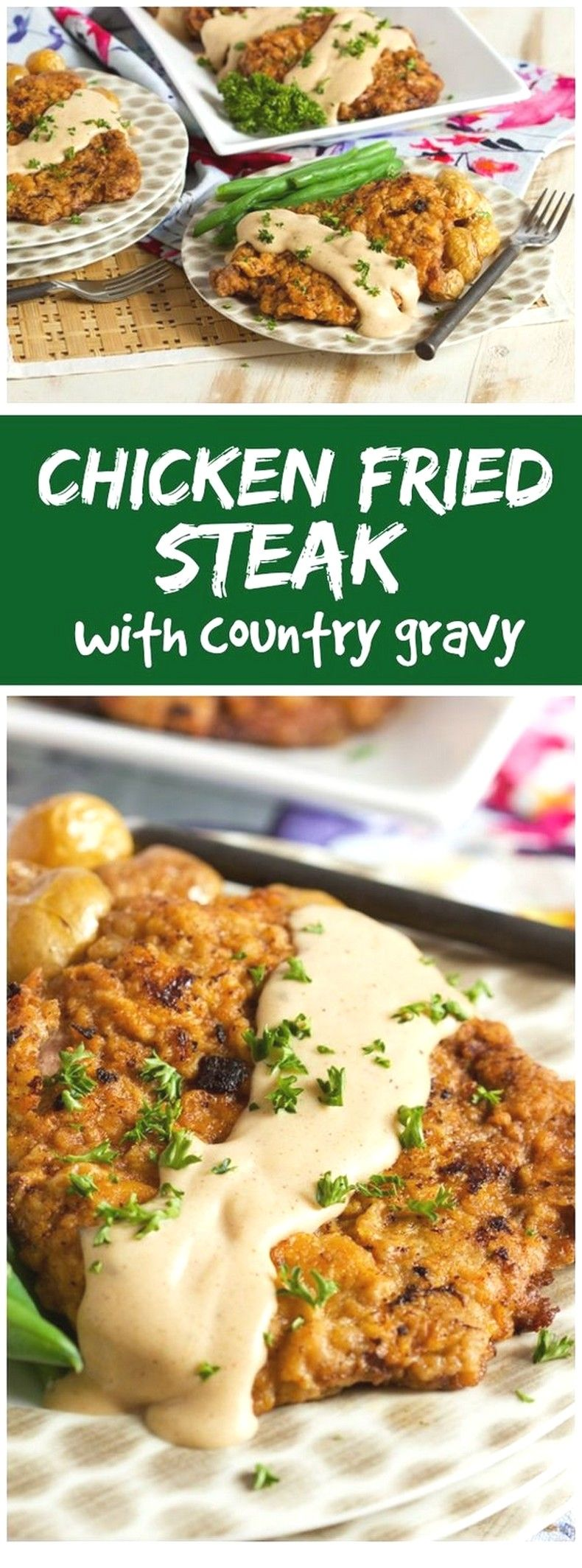 Beef Recipes Ideas | Chicken Fried Steak With Country Gravy images