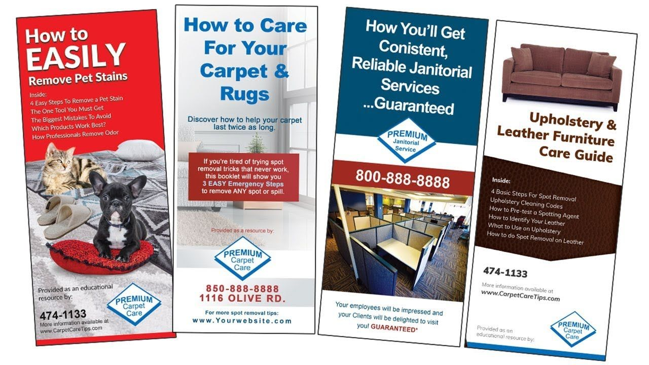 Cleaning Brochure Sales For Carpet Cleaning Janitorial Commercial