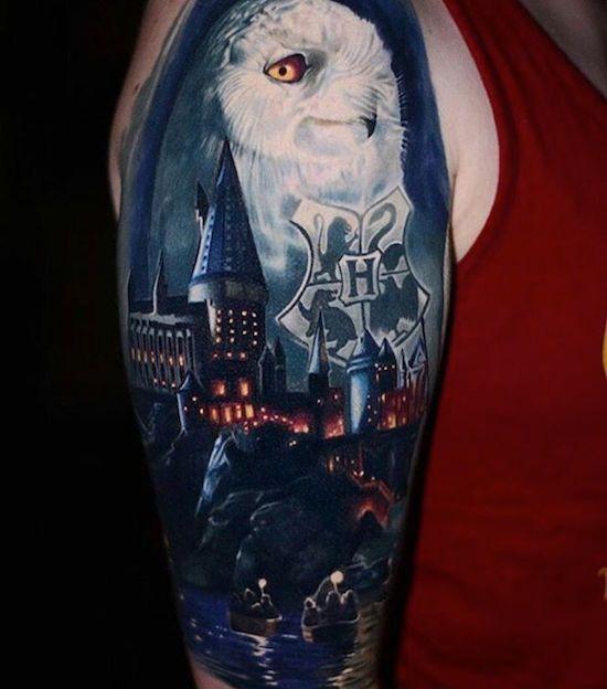 Harry Potter Tattoo Hogwarts Tattoo Harry Potter Tattoos Harry Potter Tattoo Sleeve