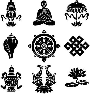 Vector Icons Of The Eight Buddhist Treasures Stuff To Buy