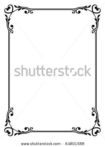 Stock Vector Vector Calligraphy Ornamental Decorative Frame With