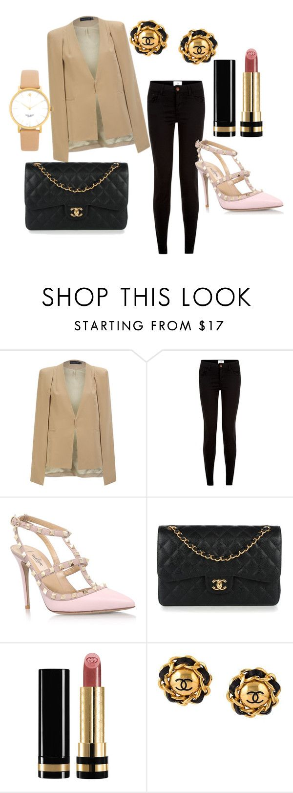 """""""Pretty in Nude"""" by stephparker1994 on Polyvore featuring Lavish Alice, New Look, Valentino, Chanel, Gucci, Kate Spade, chic, love and polyvorefashion"""