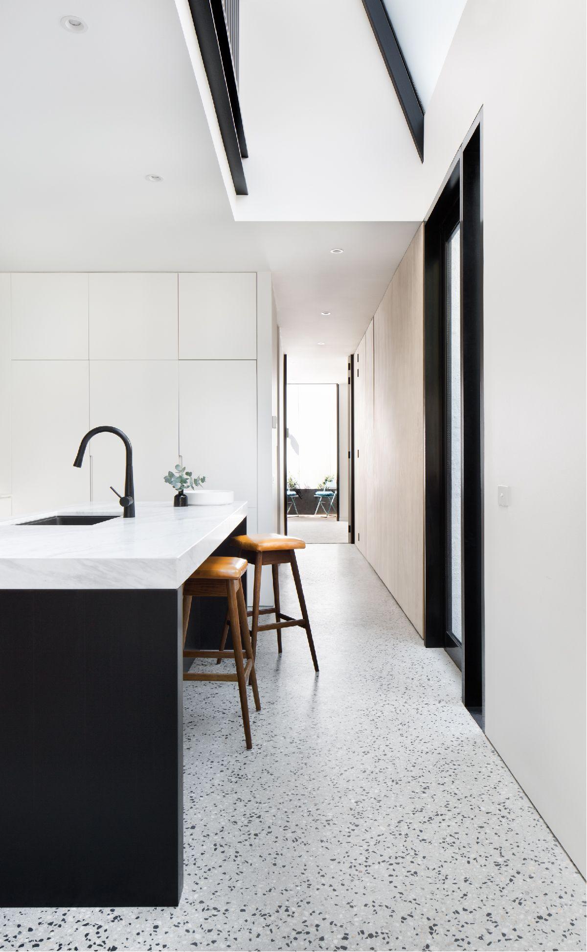 York Street Concrete Kitchen Floor