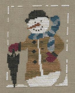 Garden Grumbles and Cross Stitch Fumbles: Winston the Snowman - A Finish
