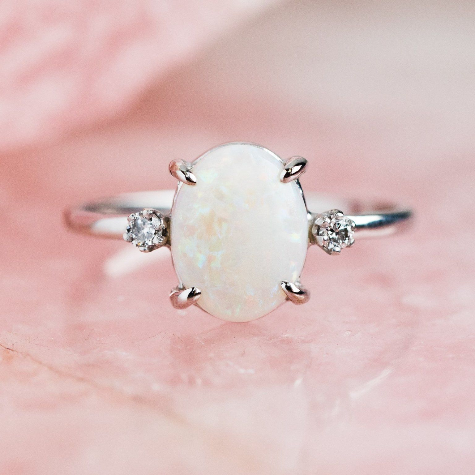 Fairy Princess Ring with Opal, Sapphires & Diamond in 2020