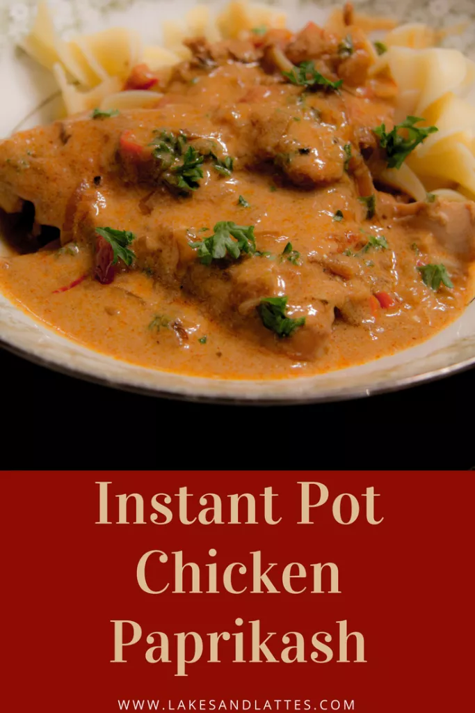 Instant Pot Chicken Paprikash Recipe Chicken Paprikash Instant Pot Pressure Cooker Food