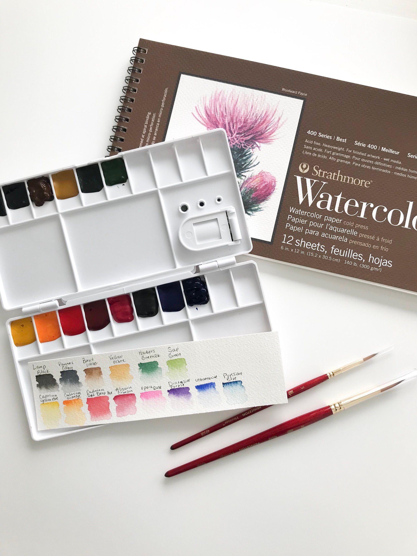 Beginners Watercolor Kit Watercolor Paint Set Watercolor Palette