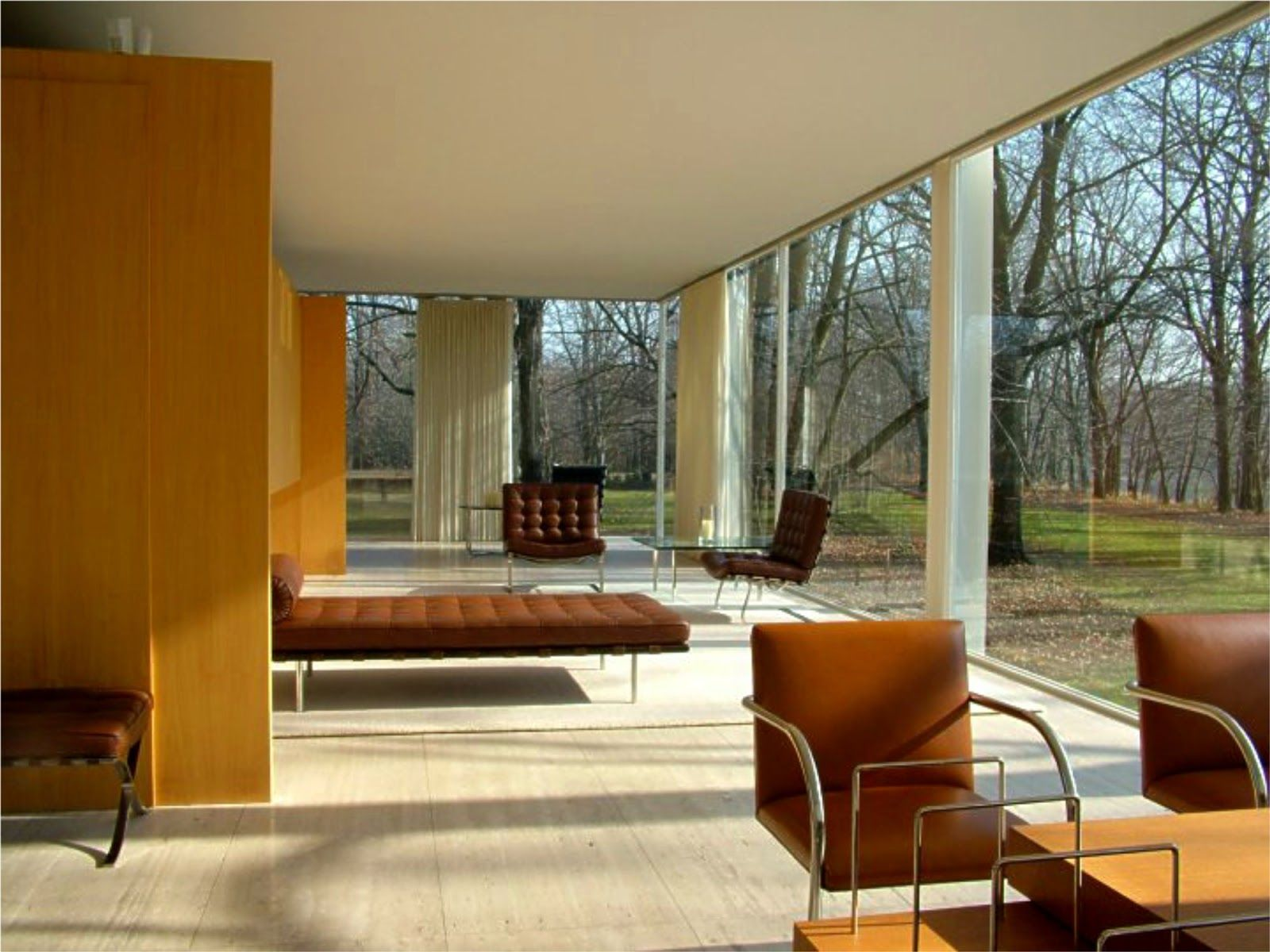 The Farnsworth House, Built By Ludwig Mies Van Der Rohe In 1951