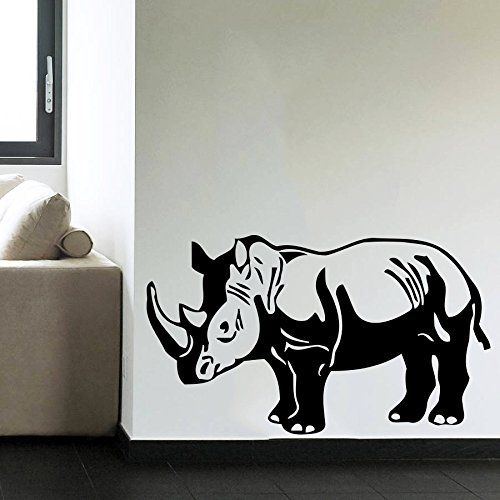 Wall Decals Rhino Animals Jungle Safari African Kids Children - Vinyl wall decals animals