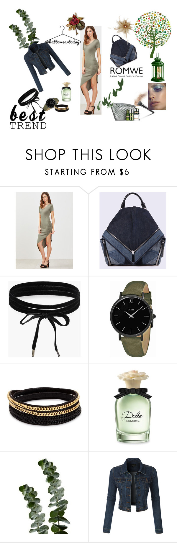 """ARMY-GREEN DRESS"" by lamija2015 ❤ liked on Polyvore featuring Diesel, Boohoo, CLUSE, Vita Fede, Dolce&Gabbana, L'Oréal Paris and LE3NO"