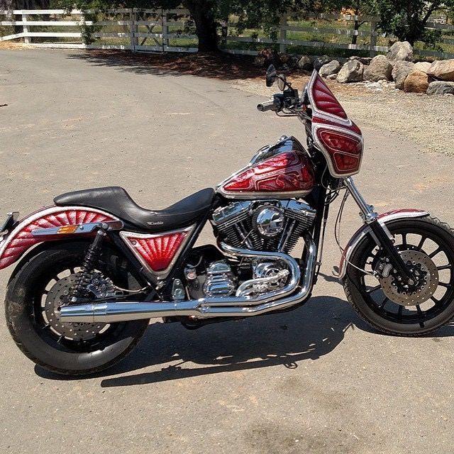 Harley Davidson fxr #harleydavidsonshovelhead | Harley ...
