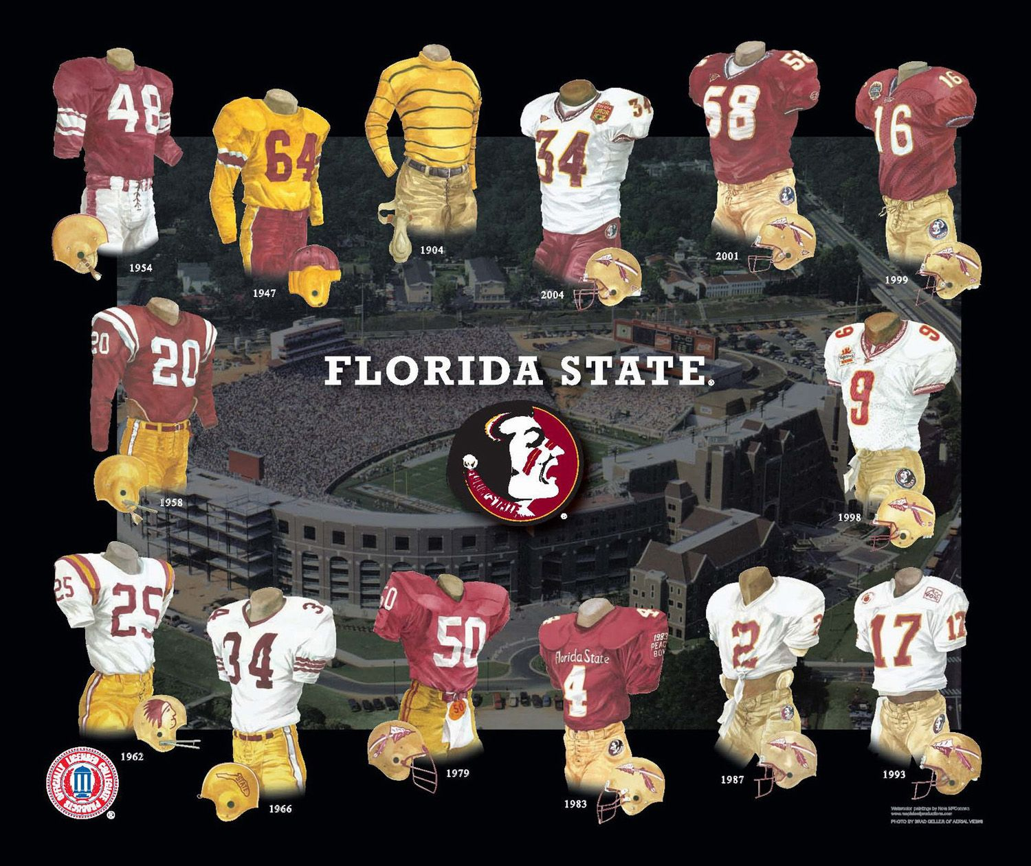 Florida State Seminoles Football Uniform And Team History Florida State Seminoles Football Seminoles Football Florida State Football