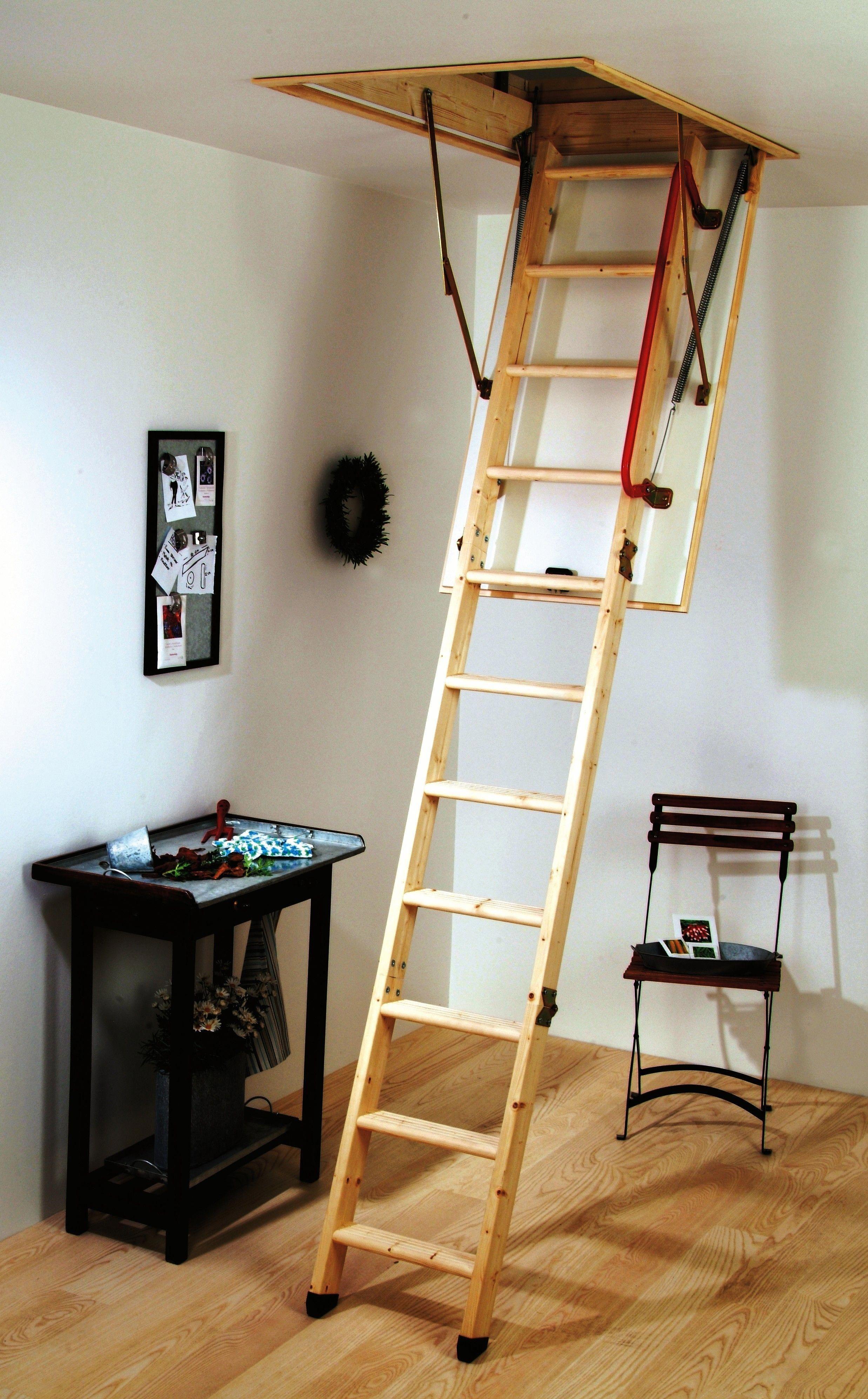 Foldaway Loft Stairs Tinyatticremodel Echelle De Grenier