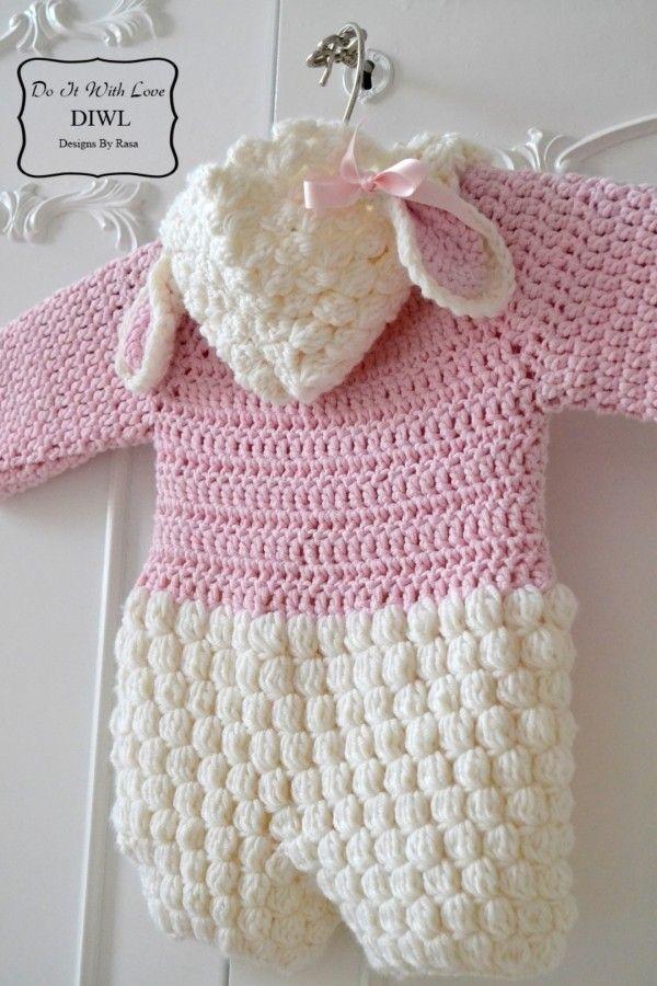 E Book Häkelanleitung Baby Lämmchen Overall Jumpsuit Crochet
