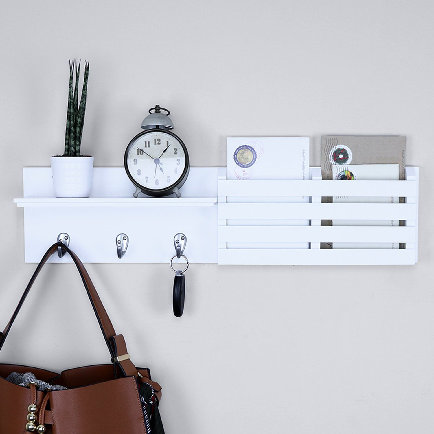 Ballucci Mail Holder And Coat Key Rack Wall Shelf Key Rack Unique Wall Shelves Wall Shelves