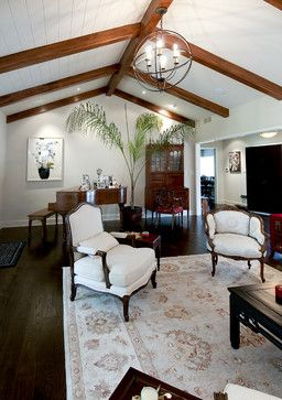 High Ceilings With Beams Design Ideas Pictures Remodel And Decor Beams Living Room Traditional Living Room High Ceiling