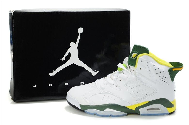 size 40 be673 82365 Nike Air Jordan 6 VI Retro-Olympic (White green- yellow) www