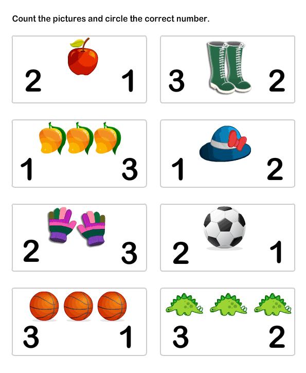 math Worksheets - preschool Worksheets - Number Matching Worksheet 5 ...