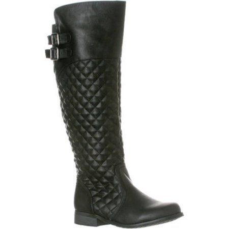 Riverberry Women's 'Lily' Knee-High Quilted Riding Boot, Size: 8.5, Black