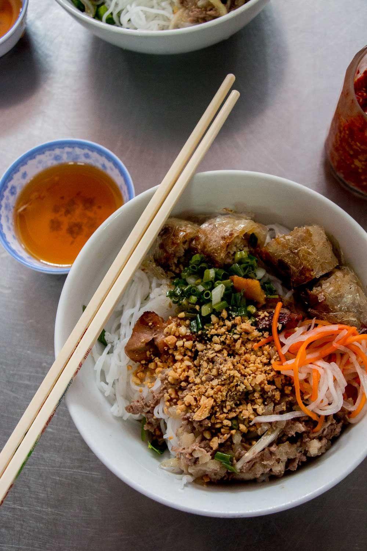 bun thit nuong at Chi Tuyen, Saigon Street Food: 195 Co Giang St, District 1