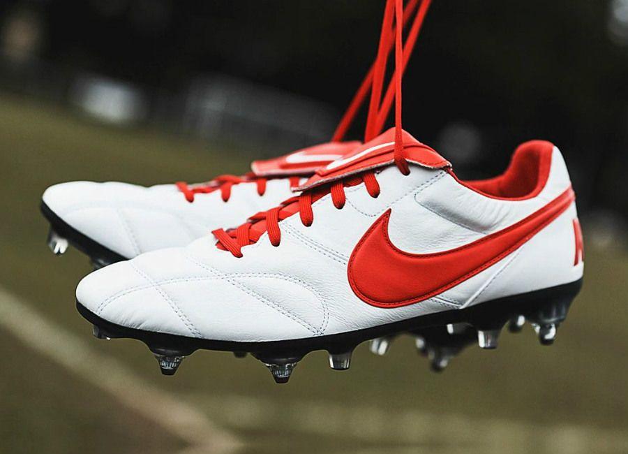 Fundir Espíritu Patriótico  Nike Premier II SG-PRO AC - White / University Red / White #nikefootball  #nikesoccer #footballboots | Football boots, Nike football, Football shoes