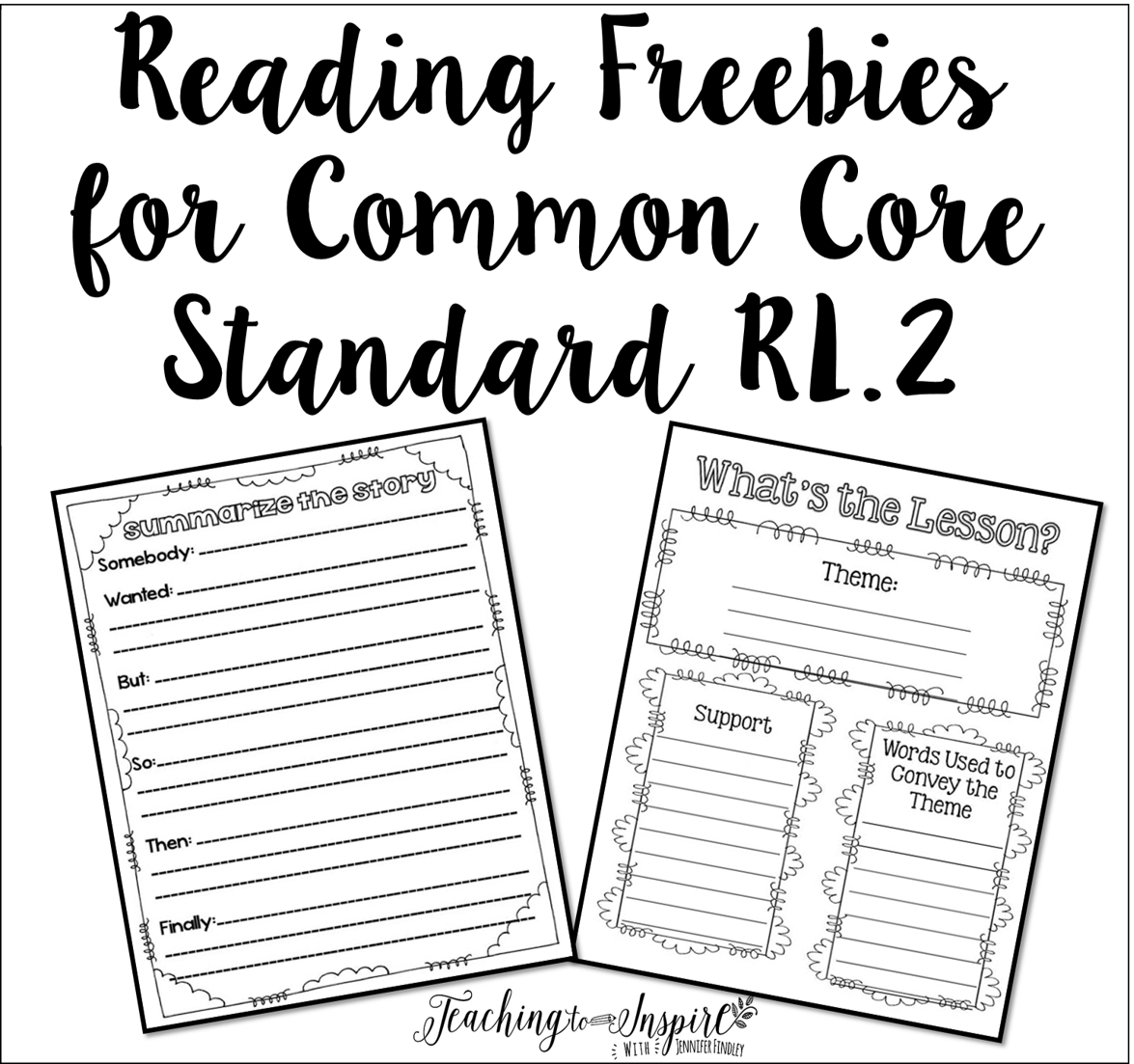 Teaching Theme Amp Summarizing Free Reading Graphic Organizers