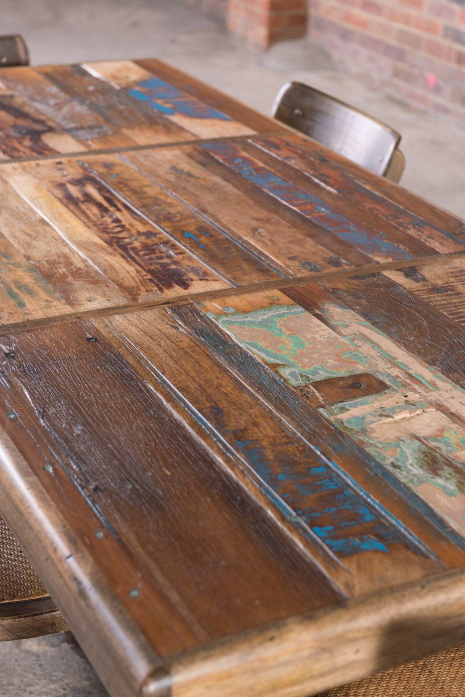 A combination of sustainable mango wood and recycled timber planks derived from old doors and buildings & A combination of sustainable mango wood and recycled timber planks ... pezcame.com
