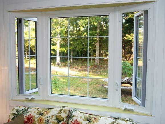 Modern Replacement For A Bay Window Bay Window Vinyl Casement Windows Bow Window